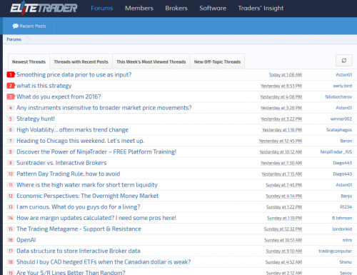 Elite trader stock forum sample
