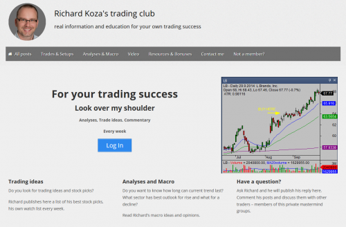 Richard's private trading site