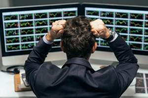 Stock trader sad emotions