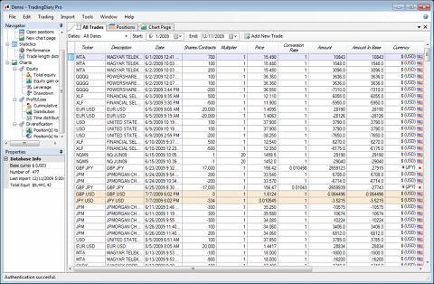 Stock trading journal