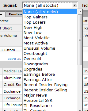 hot stock picks screener