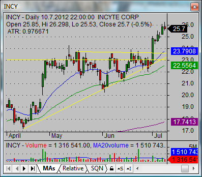 Swing stock trade system INCY 04